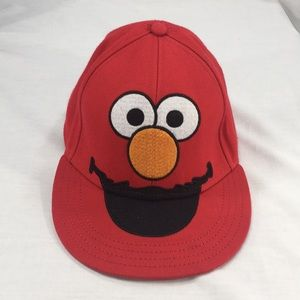 Sesame Street Elmo Red Fitted Hat, Size 7 1/4